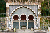 Neo-Moorish Arab Fountain from 1920s by José da Fonseca along Volta do Duche street Sintra Portugal Europe