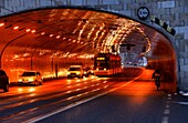 Aleja Solidarnosci - Solidarnosci Avenue passing tunnel, city center of Warsaw , Poland , Europe