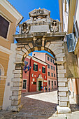 Balbi's Arch, one of the gateways into the old town of Rovinj, Istria, Croatia.