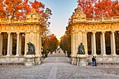Monument to Alfonso XII, located at The Buen Retiro Park. Madrid. Spain.