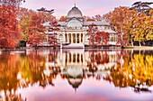 The Palacio de Cristal (Crystal Palace), located in the heart of The Buen Retiro Park. Madrid. Spain.