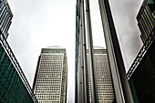 "Canary Wharf is a major business district located in Tower Hamlets, east London, England. It is one of the United Kingdom's two main financial centres â. "" along with the traditional City of London â. "" and contains many of Europe's tallest buildings, inc"