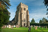 St Mary Magdalene's church in Rusper village near Horsham, West Sussex, England. Autumn afternoon.
