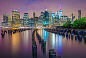 Brooklyn Bridge Park is an 85-acre park on the Brooklyn side of the East River in New York City. The park has revitalized 1. 3-mile of Brooklyn's post-industrial waterfront from Atlantic Avenue in the south, under the Brooklyn Heights Promenade and past t