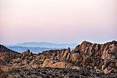 rocks at sunset in Joshua Tree Nationalpark, California, USA, America