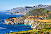 'Cliffs along Big Sur coastline, Highway One; California, United States of America'