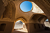 'Small adobe structure by the Zoroastrian Towers of Silence; Yazd, Iran'