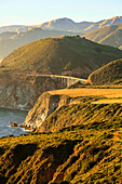 'Cliffs along Big Sur coastline on Highway One; California, United States of America'