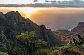 La Gomera, Mirador del Santo, Arure, sunset, Canary Islands, Spain
