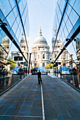 St. Paul's Cathedral from One New Change, City of London, London, England, United Kingdom, Europe