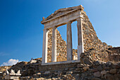 Archaeological remains of the Temple of Isis, Delos, UNESCO World Heritage Site, Cyclades Islands, South Aegean, Greek Islands, Greece, Europe
