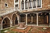 Galleria Giogio Franchetti alla Ca D Oro, Patio, Venedig, Venezia, Venice, Italia, Europe