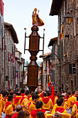 Europe, Italy, Umbria, Perugia district, Gubbio, The crowd and the Race of the Candles