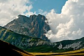 The majestic Apennine top is the protagonist during a sunset late summer, The Gransasso