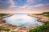 Europe, Italy, Salento beaches at sunrise, province of Taranto, Apulia