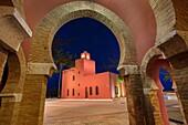 Bil-Bil castle built in neo-Arab style in 1934, Benalmadena. Malaga province Costa del Sol. Andalusia Southern Spain, Europe.