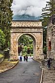Triumphal Arch of Augustus (8 BC), Susa, Piedmont, Italy.