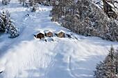 Italy, Italian Alps, Lombardy, Chalet in Valchiavenna