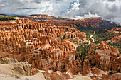 Hoodoos landscape from Inspiration Point, Bryce Canyon National Park, Garfield County, Utah, USA