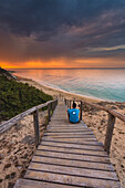 Europe, Italy, Piri Piri Beach at dawn, Salento, Apulia