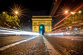 Paris, France A vision of  special  Arc de Triomphe in Paris
