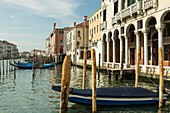 Spring afternoon on Grand Canal in Venice, Italy.