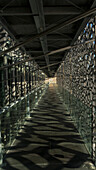 France, South-Eastern France, French Riviera, Marseille, passageway inside the MuCEM (Museum of European and Mediterranean Civilisations) Mandatory credit: Architect Rudy Riciotti