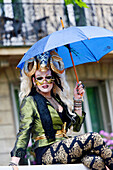 France, Paris. Gay Pride 2014. Drag queen on a float.