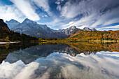 Almsee im Almtal, Totes Gebirge, Salzkammergut, Oberösterreich, Österreich, Europa