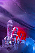 Ice Sculpture in Dachstein glacier cave on Schladming Glacier, Styria, Austria, Europe