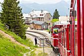 Schafbergbahn, steepest cogwheel railway in Austria, St. Wolfgang, Upper Austria, Austria, Europe