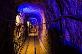 Gallery in Altaussee Salt Mine, Bad Aussee, Styria, Austria, Europe