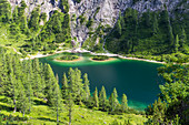 Lake Steirersee, Tauplitzalm, Totes Gebirge, Styria, Austria, Europe