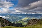 Ennstal, Schladminger Tauern, seen from Alpine hut Guttenberghaus, Dachstein area, Styria, Austria, Europe