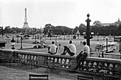 1959, streetscene, Place de Varsovie, Paris, Frankreich