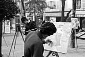 1960, drawer, Place du Tertre, Paris, France