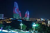 Flame Towers, Baku, Azerbaijan, south caucasus