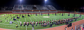 Marching band practicing at a high school pep rally, San Antonio, Texas, USA