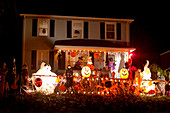 Halloween decoration, Stamford, Connecticut, USA
