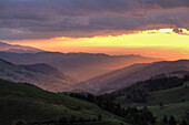 sunset, Schauinsland, Black Forest, Germany