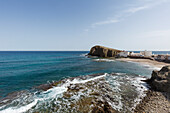 beach at La Isleta del Moro, Cabo de Gata, Mediterranean Sea, Parque Natural Cabo de Gata-Nijar, natural park, UNESCO Biosphere Reserve, Almeria province, Andalucia, Spain, Europe