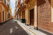 alley, old town, Cadiz, Costa de la Luz, Atlantic Ocean, Cadiz, Andalucia, Spain, Europe