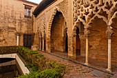 Patio del Yeso, Palacio del Yeso, Real Alcazar, royal palace, Mudejar style architecture, UNESCO World Heritage, Sevilla, Andalucia, Spain, Europe