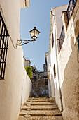 alley with steps, Alhama de Granada, Granada province, Andalucia, Spain, Europe