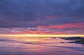 Morning light over Storseisundet on the Atlantic Ocean Road between Molde and Kristiansund, near Vevang, More og Romsdal, Western Norway, Norway, Scandinavia, Northern Europe, Europe