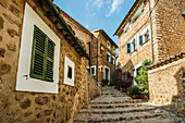 Mountain village of Fornalutx, Serra de Tramuntana, Majorca, Balearic Islands, Spain