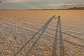 Shadows Stretch Across The Black Rock Desert In The Late Afternoon Sun