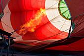 Preparation of hot air balloon, Aosta Valley, Italy, Europe