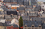 Alesund, Vestlandet, NOrway, The roofs of some buildings