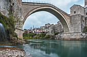 The Stari Most , Old Bridge, icon of the war in the Balkans, Eastern Europe, Mostar, Bosnia and Herzegovina